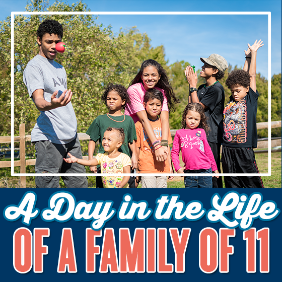 A Day In The Life Of A Family Of 11 1 Daily Mom Parents Portal