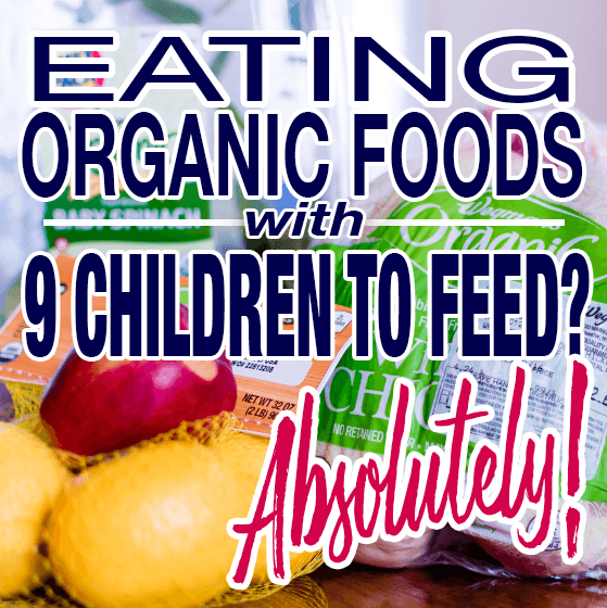 Eating Organic Foods with 9 children to Feed 1 Daily Mom Parents Portal