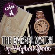 Win It The Barrel Watch by Original Grain - pin