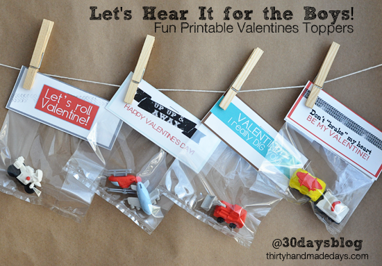 Easy DIY Valentines for boys