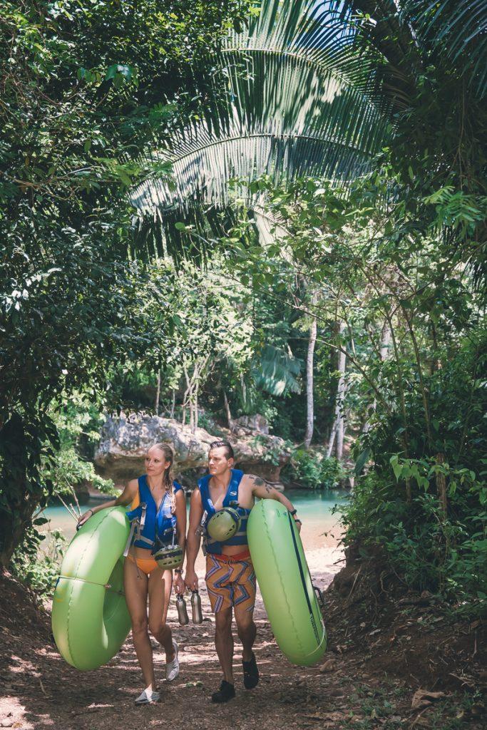 Belize vacation hamanasi cave tubing