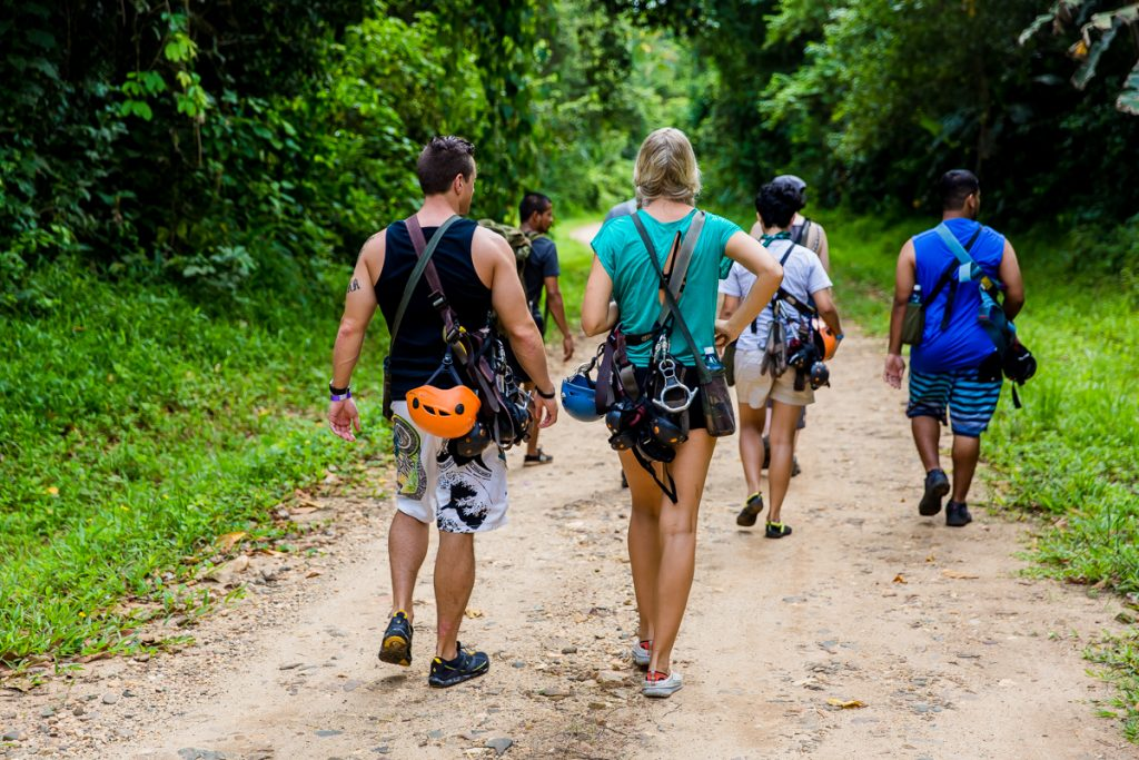Belize vacations with waterfall rappeling