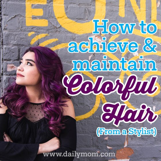 how to maintain colorful hair