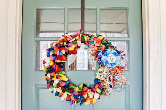 How To Make A Birthday Balloon Wreath