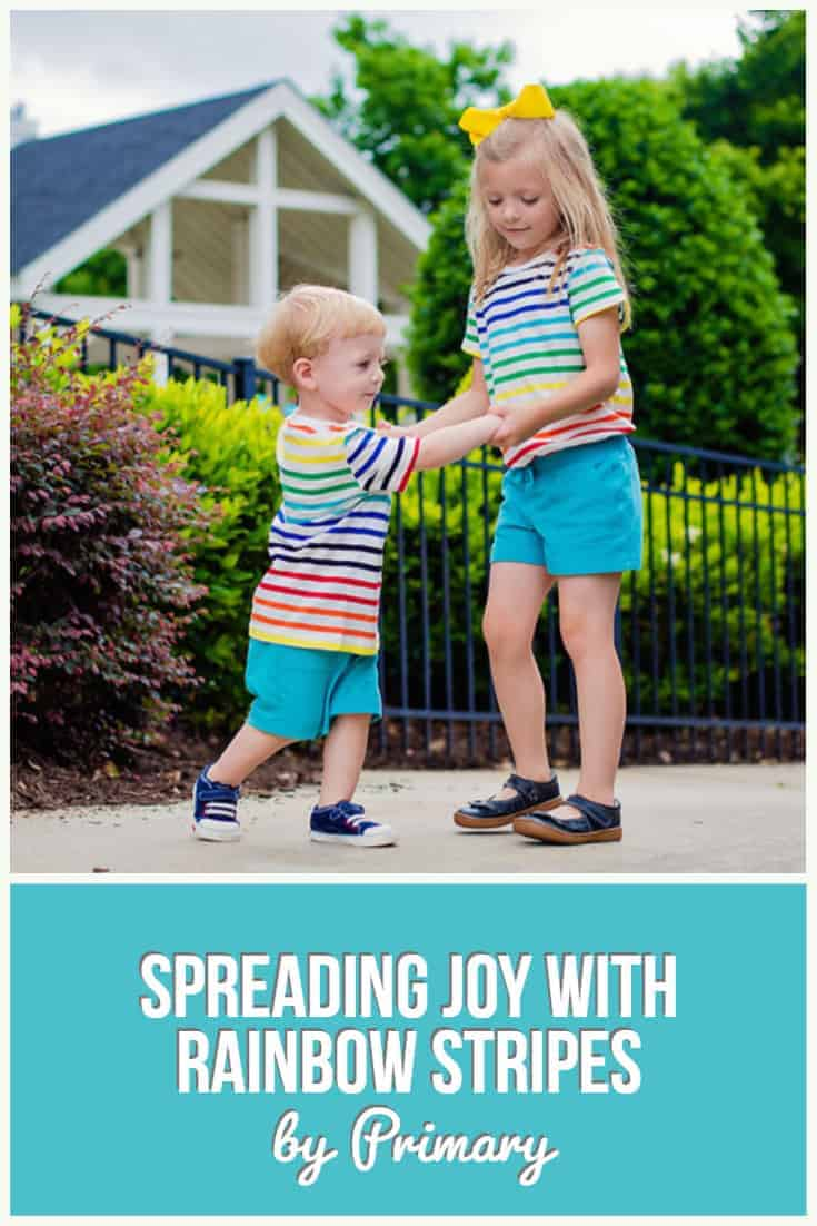 Spreading Joy with Rainbow Stripes by Primary
