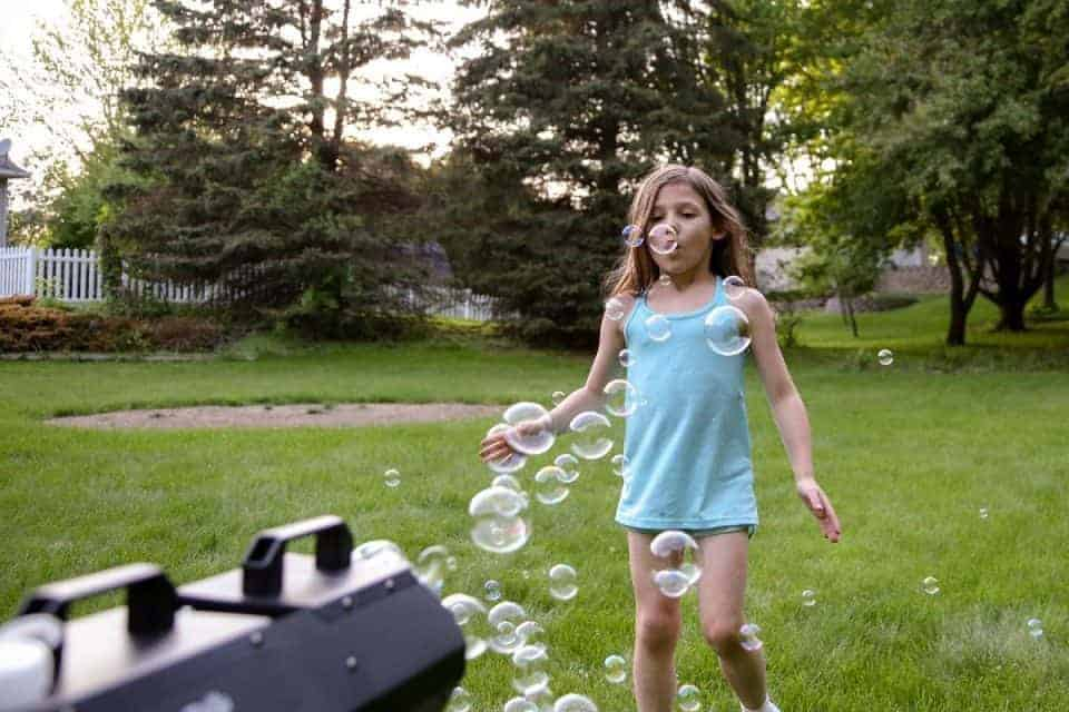 Backyard Bubbles for the Win - Introducing Fobble's Bubble Machine 12 Daily Mom Parents Portal