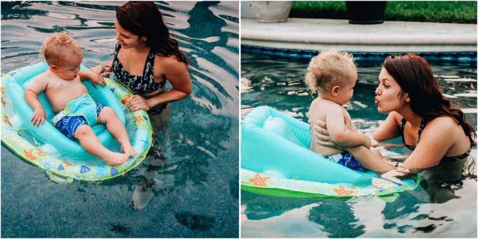 swim ways infant float