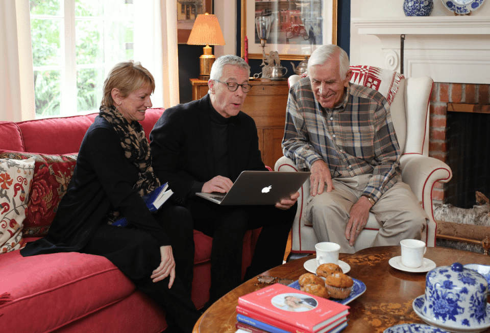 StoryWorth family – laptop and books