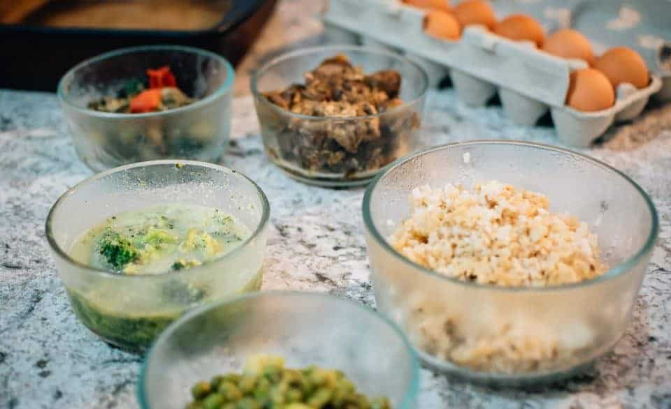 one pot meals – leftovers on counter