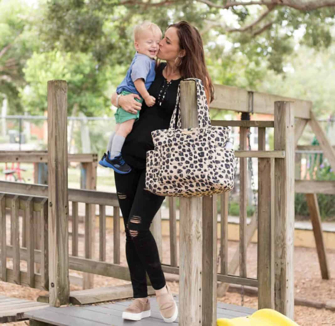 The Perfect Diaper Bag: Twelvelittle Carry Love Tote Leopard