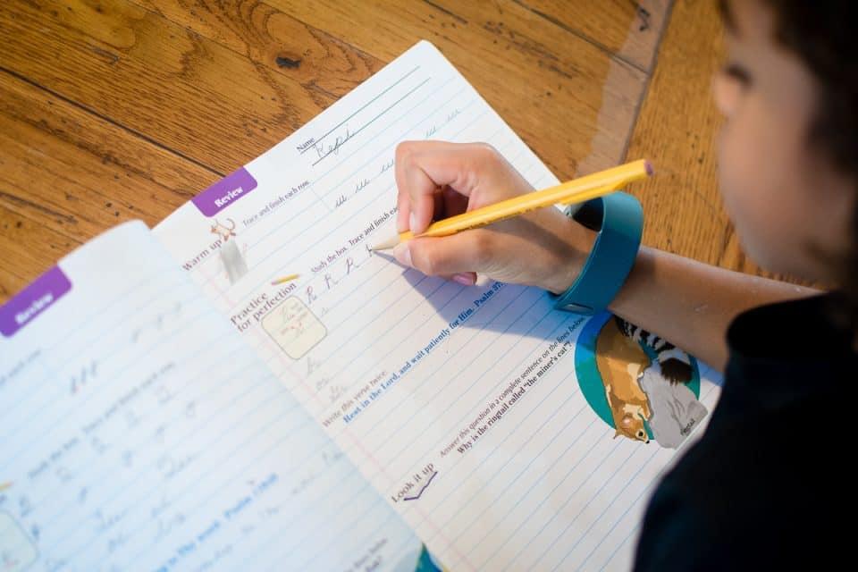 Daily Mom parents portal cursive writing165