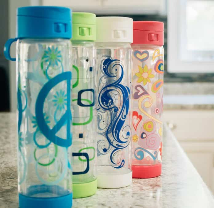 Holiday Glasstic Water Bottles 3