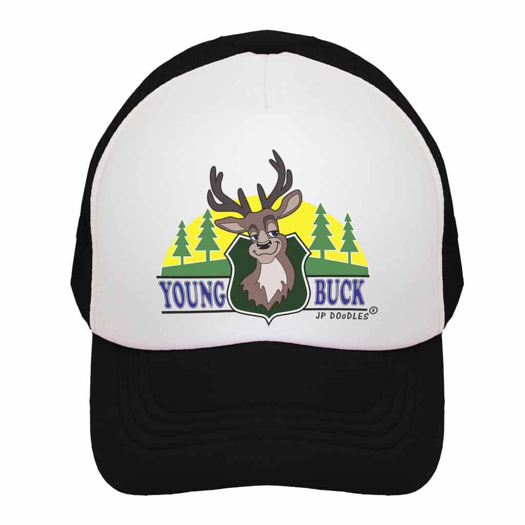 YOUNG BUCK JP Doodles Trucker Hats Daily mom parents portal Gifts for Parents and Kids to Enjoy
