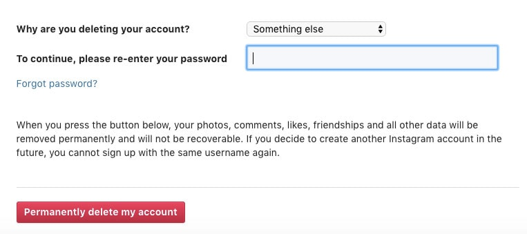 daily mom parent portal how to delete an account on instagram