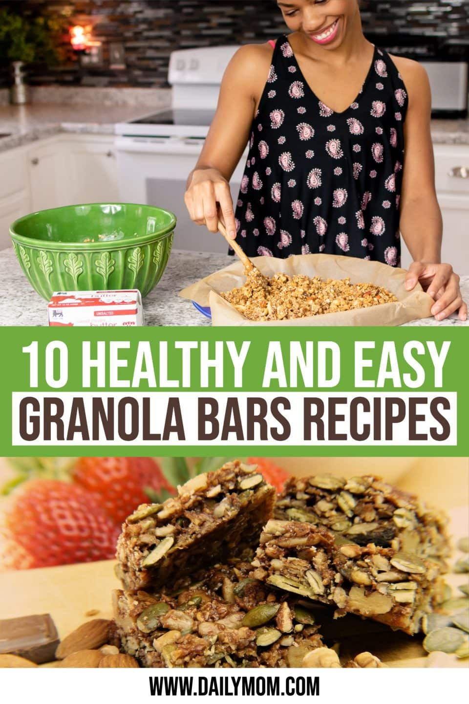 daily-mom-parent-portal-Healthy Granola Bars Recipes For Moms On The Go-pin