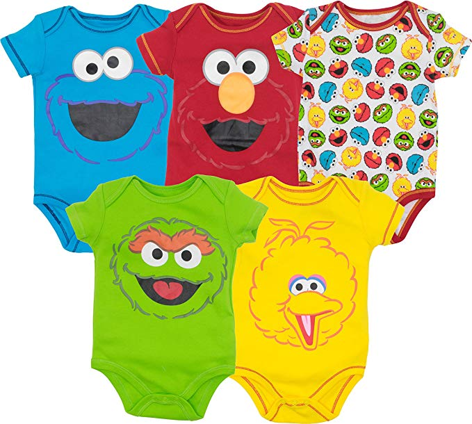daily-mom-parent-portal25 Cool Onesies Your Baby Must Wear In 2019-sesame-street