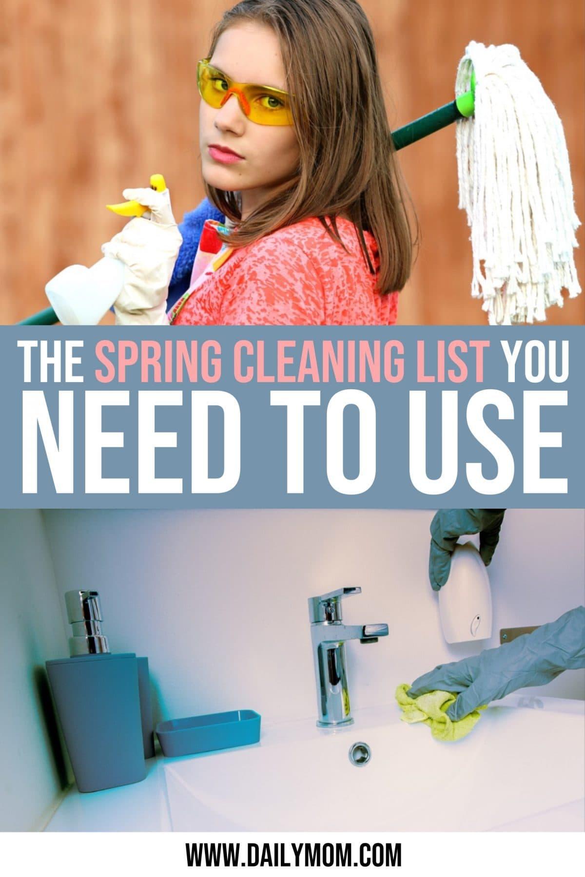 daily mom parent portal spring cleaning list