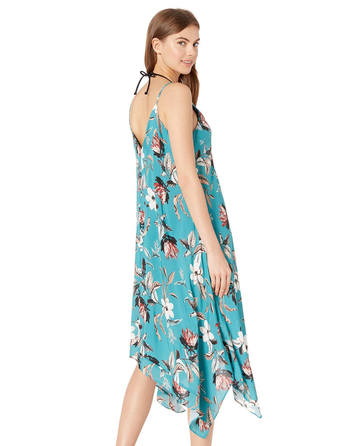 Ladies Dress Cotton Dress Beach Dress Sea dress,Fish Dress Short Sleeved Dress Festival Clothing Women Dress Turquoise Dress